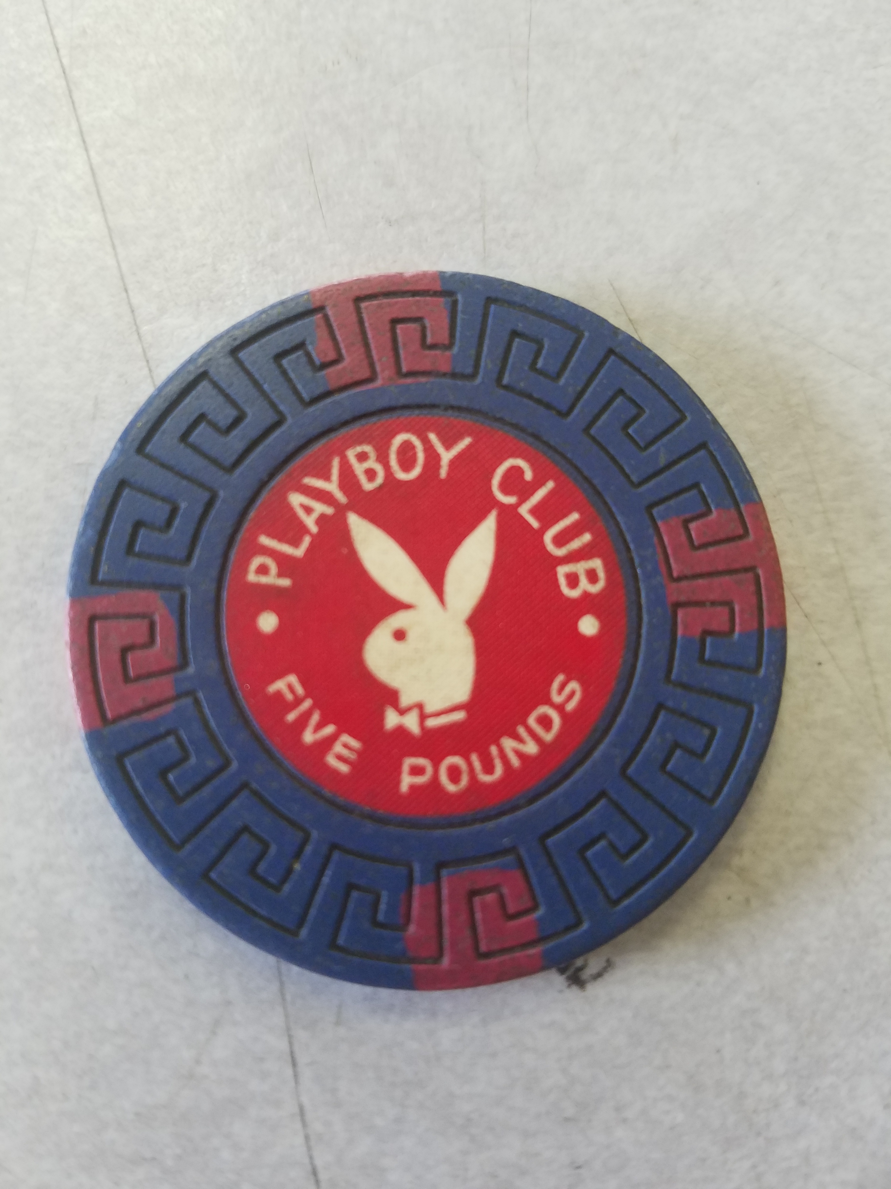 Playboy Club London 5 Pound Greek Key