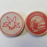 Lake Geneva Playboy Club Red Wooden Nickel