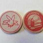 Lake Geneva Playboy Club Red Wooden Nickel