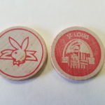St Louis Playboy Club Red wooden Nickel