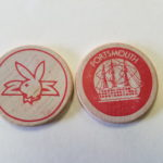 Portsmouth Playboy Club Red wooden Nickel