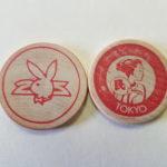Playboy Club Tokyo Red wooden Nickel