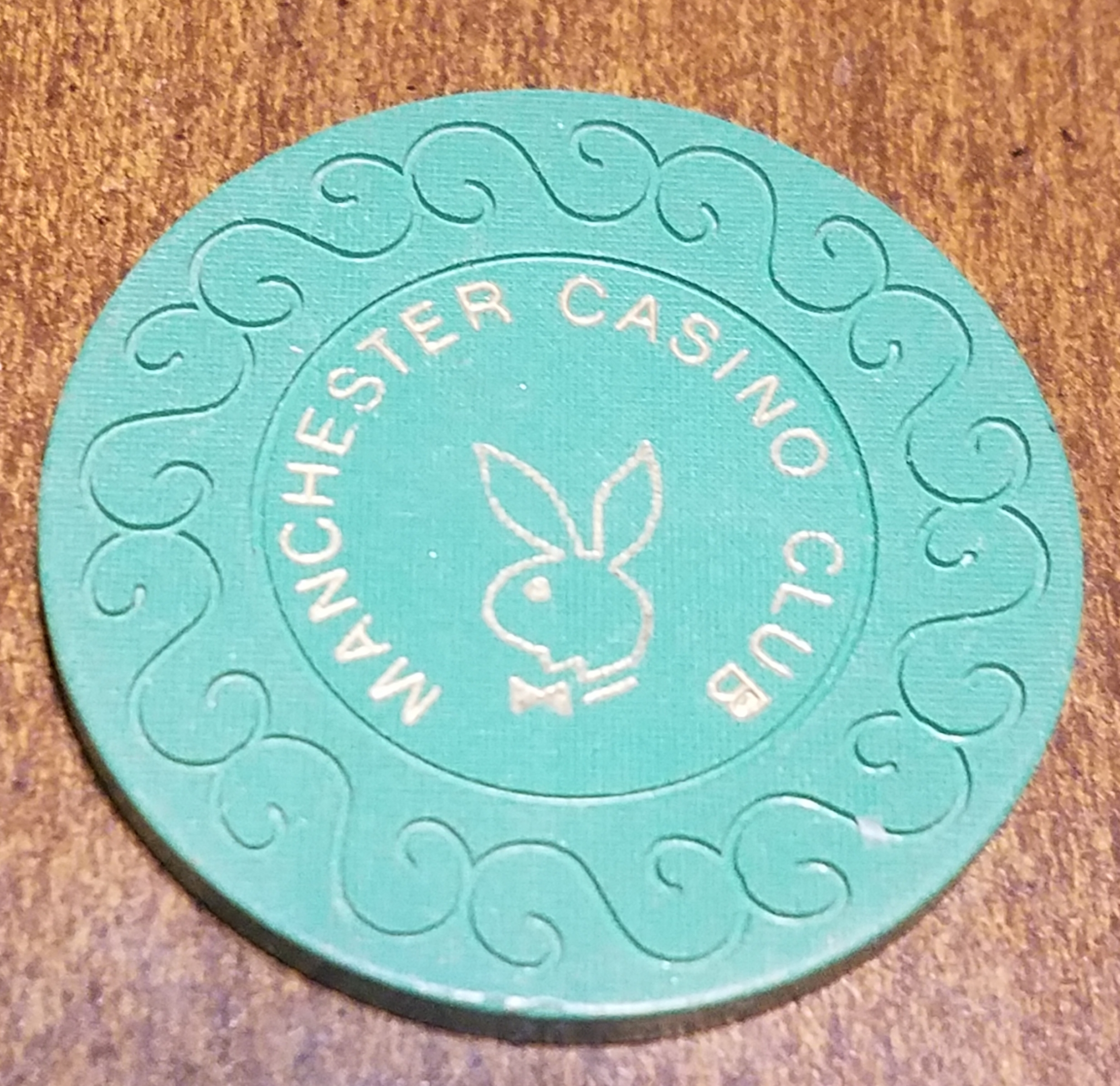 20 PENCE MANCHESTER CASINO CHIP PLAYBOY CLUB